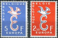 (1958) MiNr. 1117 - 1118 ** - Belgie - EUROPA