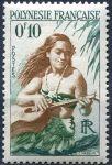 (1958) NiNr. 1 ** - Fr. Polynesie - Kytaristka