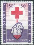 (1959) MiNr. 1151 ** - Belgie - 100 let Červený kříž