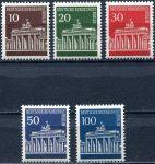 (1967) MiNr. 286 - 290 ** - Berlín - západní - Braniborská brána