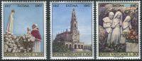 (1967) MiNr. 528 - 530 ** - Vatikán - 50. výročí marianského zjevení: Fatima