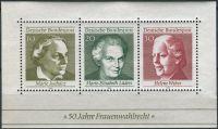(1969) MiNr. 596 - 598 ** - Německo - BLOCK 5 - 50 let ženského volebního práva v Německu