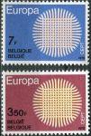 (1970) MiNr. 1587 - 1588 ** - Belgie - EUROPA
