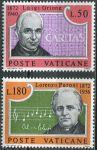 (1972) MiNr. 613 - 614 ** - Vatikán - 100. narozeniny Luigi Orione a Lorenzo Perosi