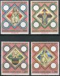(1973) MiNr. 625 - 628 ** - Vatikán - 1000 let latinské biskupství v Praze