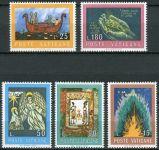 """(1974) MiNr. 635 - 639 ** - Vatikán - Soutěž v kreslení pro mladé lidi: """"Bible"""""""