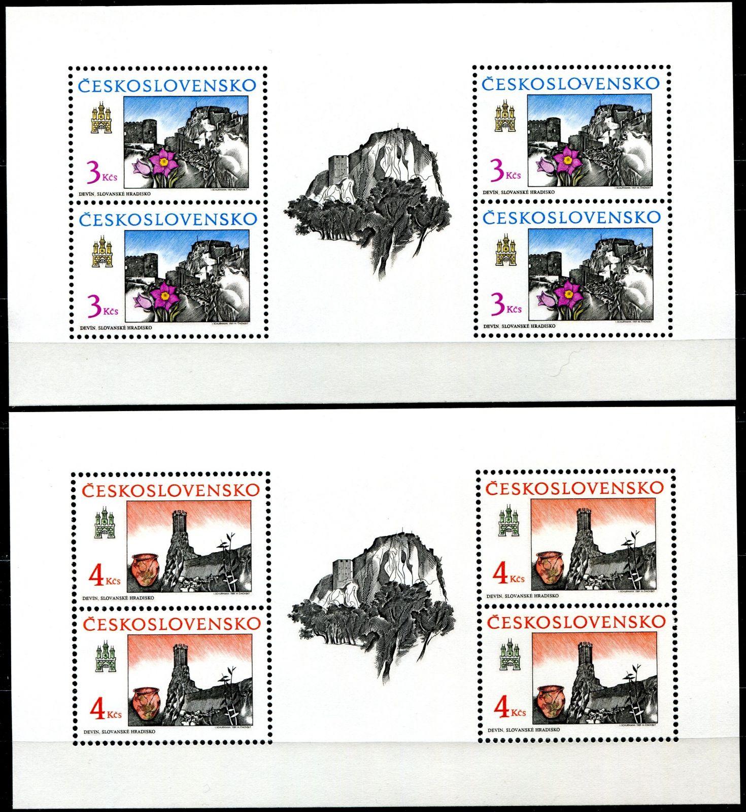 (1989) PL 2914 - 2915 ** - ČSSR - Bratislavské motivy 1989