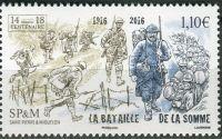 (2016) MiNr. 1265 ** - Saint Pierre a Miquelon - 100. výročí bitvy na Sommě