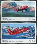 (2016) MiNr. 726 - 727 ** - Grónsko - Historie grónského civilního letectví (VI)