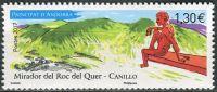 (2017) MiNr. 822 ** - Andora (Fr.) - cestovní ruch - Socha Miguela Ángel Gonzáleza na pozorovací pal