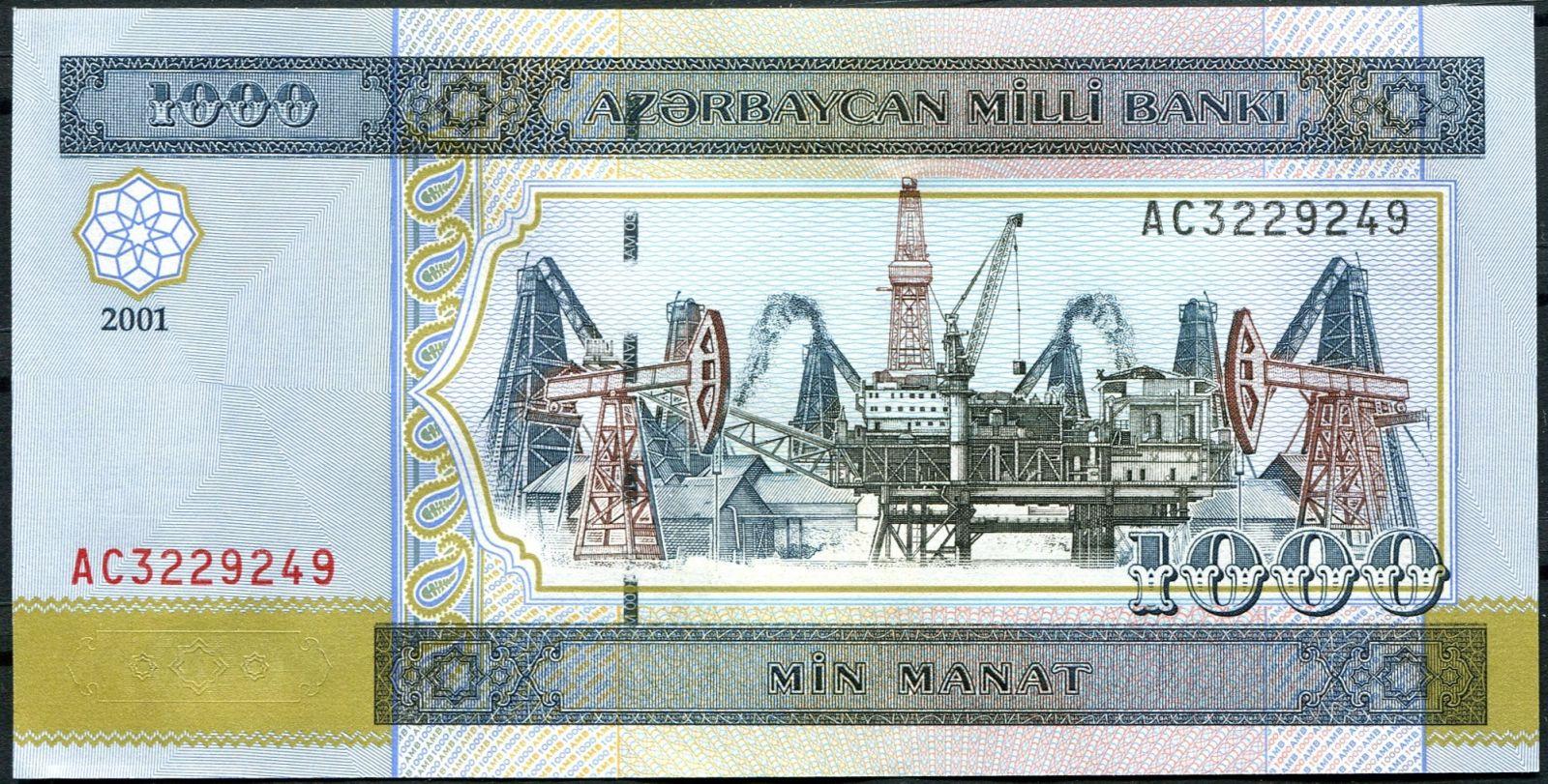 Azerbajdžán (P 23) - 1000 manat (2001) - UNC