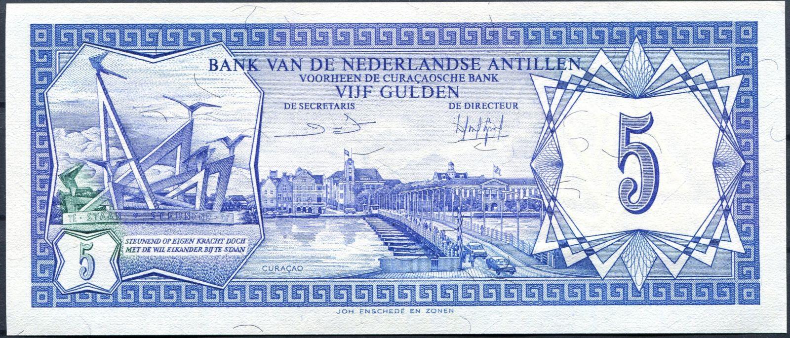 Nizozemské Antily (P 15b) - 5 guldenů (1984) - UNC