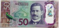 Nový Zéland (P 194) - 50 Dollars (2016) - UNC polymer