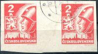 (1945) č. 354 Mv2 - O - ČSSR - 2 K - vodorovné meziarší