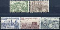 (1955) č. L 37 - 41 ** - ČSSR - Letecké známky - města