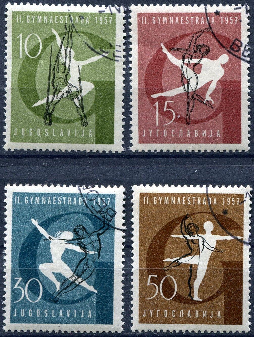 (1957) MiNr. 823 - 826 - O - Jugoslávie - Gymnastika