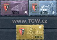 (1964) MiNr. 289 - 291 ** - Malta - 1. Evropský kongres katolických lékařů.