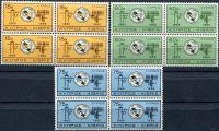 (1965) MiNr. 253 - 255 ** - Kypr  - 4-bl - Mezinárodní telekomunikační unie