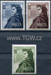 (1965) MiNr. 320 - 322 ** - Malta - Dante Alighieri