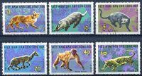 (1967) MiNr. 475 - 480 - O - Severní Vietnam - Divoká zvířata