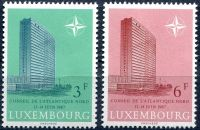 (1967) MiNr. 751 - 752 ** - Lucembursko - Setkání Rady NATO v Lucemburku