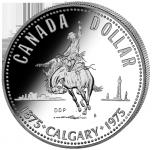 (1975) Kanada - 1 Dollar (Ag 500/1000) - Calgary (UNC)