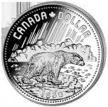 (1980) Kanada - 1 Dollar (Ag 500/1000) - lední medvěd (UNC)