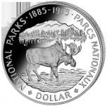 (1985) Kanada - 1 Dollar (Ag 500/1000) - Národní parky (UNC)