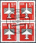 (1985) MiNr. 2967 - O - DDR - 4-bl - letecké známky (IV.)