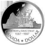 (1987) Kanada - 1 Dollar (Ag 500/1000) - Polárník J. Davis (UNC)