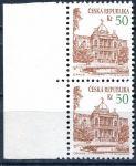 """(1993) č. 19 ** - sp - ČR - DV 71/2 - slabá svislice čísla """"5"""" 50 Kč"""