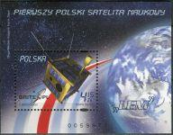 (2011) MiNr. 4539 ** - Polsko - BLOCK 200 - Spuštění prvního polského výzkumného satelitu