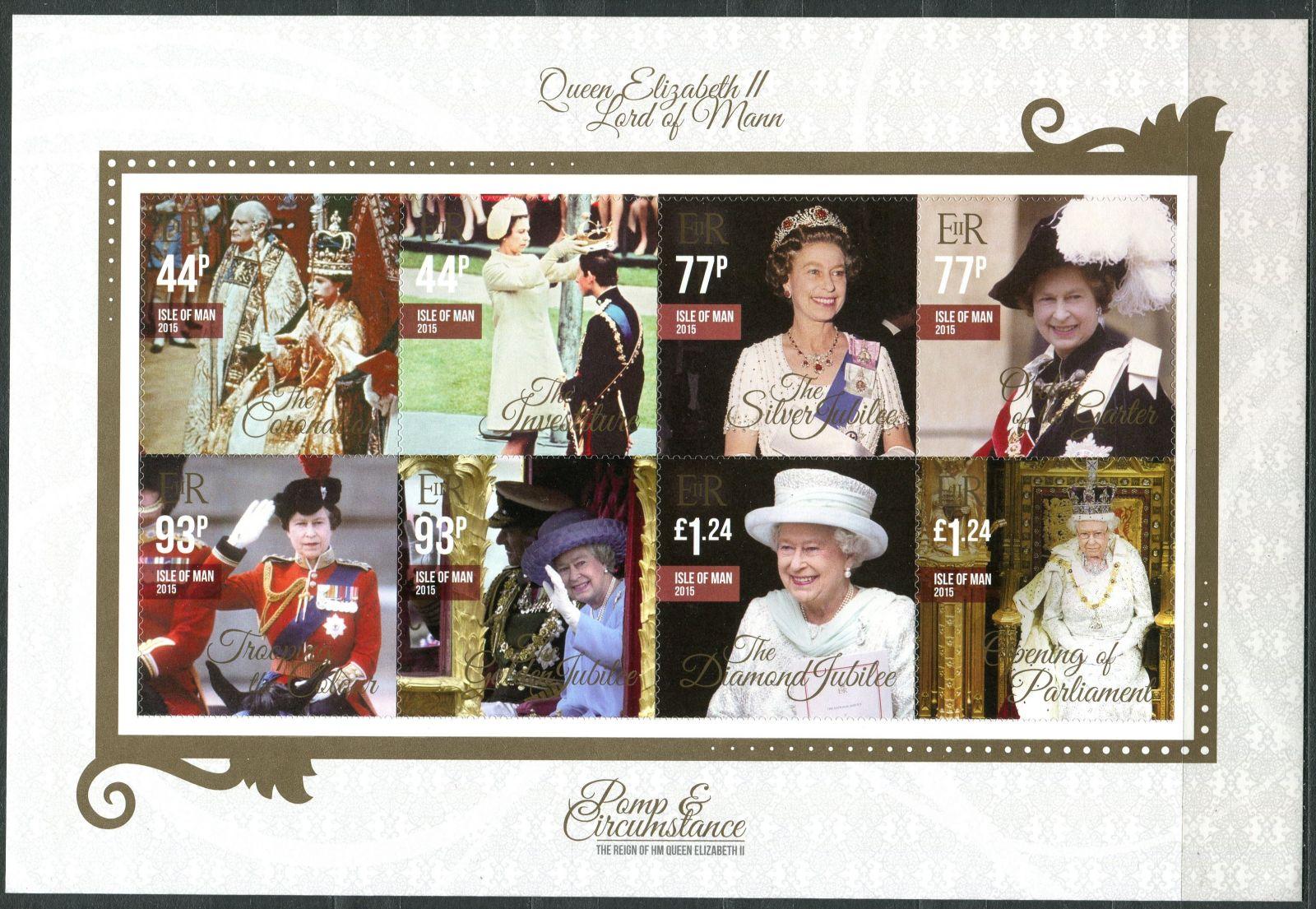 Isle of Man (2015) MiNr. 2073 - 2080 ** - PL - Královna Alžběta II.