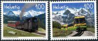 (2018) MiNr. 2534 - 2535 ** - Švýcarsko - 125 let železnice Schynige-Platte-Bahn a Wengernalpbahn