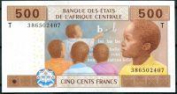 CAF Kongo - (P 106T) 500 CA FRANCS (2002) - UNC (sér. T)