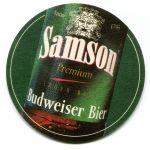 České Budějovice - pivovar - Samson - Budweiser bier (export)