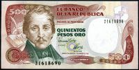 Kolumbie (P 431A) - 500 Pesos Oro (2.3.1992) - UNC