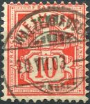 (1882) MiNr. 54 - O - Švýcarsko - Helvétský kříž