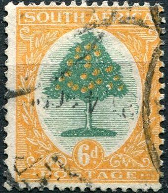 (1926) Gi. 32 / MiNr. 27 - O - Jižní Afrika - pomerančovník