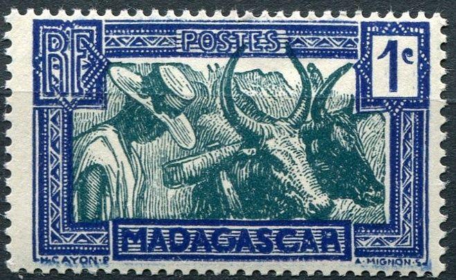 (1930) MiNr. 180 ** - Madagaskar - život na venkově (s RF)