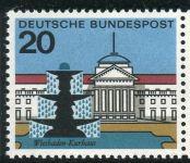 (1964) MiNr. 420 ** - Německo - Hlavní města Spolkové republiky Německo - Wiesbaden