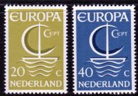 (1966) MiNr. 864 - 865 ** - Nizozemsko - Europa