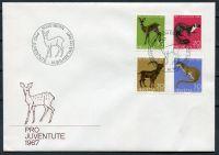 (1967) MiNr. 866 - 869 - FDC - Švýcarsko - domácí divoká zvířata (III).