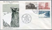 (1968) MiNr. 561 - 562 - FDC - Norsko - 100 let turistické asociace