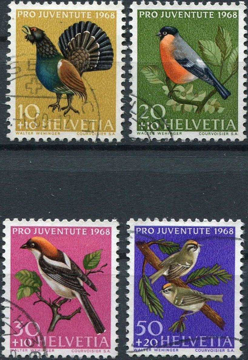 (1968) MiNr. 891 - 892 - O - Švýcarsko - divoká zvěř