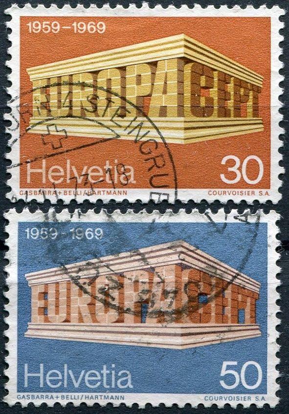 (1969) MiNr. 900 - 901 - O - Švýcarsko - Europa 1969