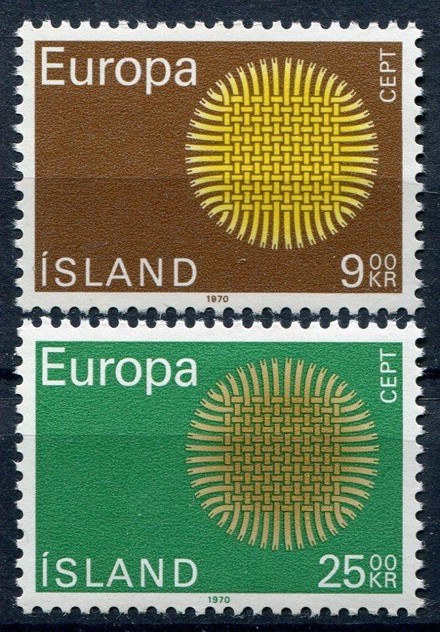 (1970) MiNr. 442 - 443  ** - Island - EUROPA - C.E.P.T. 1970