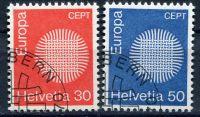 (1970) MiNr. 923 - 924 - O - Švýcarsko - Europa 1970