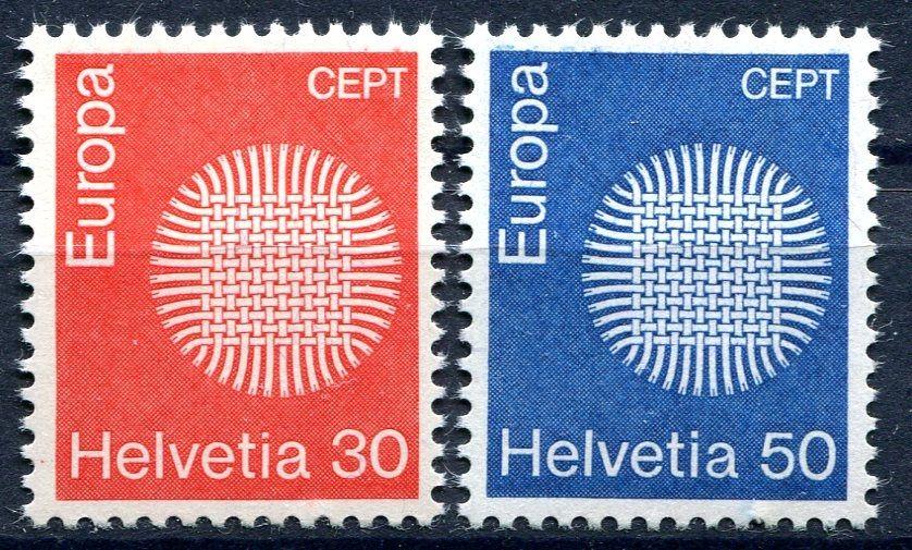 (1970) MiNr. 923 - 924 ** - Švýcarsko - Europa 1970