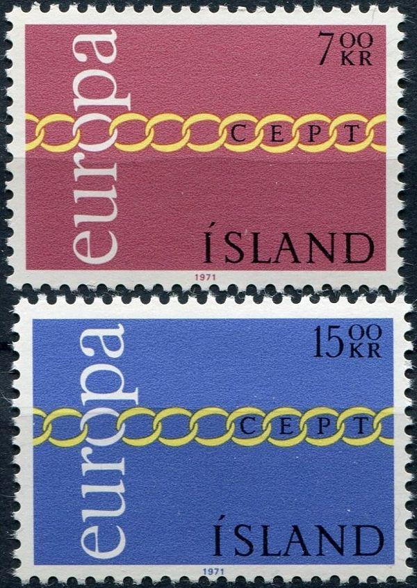(1971) MiNr. 451 - 452 ** - Island - EUROPA - C.E.P.T. 1971